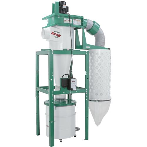 3 Hp Cyclone Dust Collector Grizzly Industrial