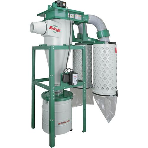 5 Hp 3 Phase Cyclone Dust Collector Grizzly Industrial