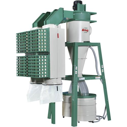 10 Hp 3 Phase Dual Filtration Hepa Cyclone Dust Collector