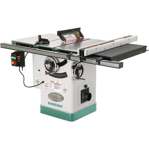 10 3hp 220v cabinet table saw with riving knife grizzly industrial Used table saw
