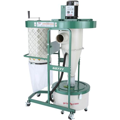 1-1/2 HP Ultra-Quiet Cyclone Dust Collector