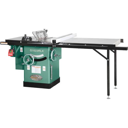 10 3 Hp 240v Cabinet Left Tilting Table Saw With Extension Table Grizzly Industrial