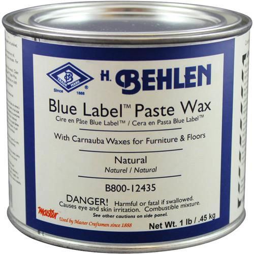 Behlen B800 12435 Blue Label Paste Wax W Carnauba Natural