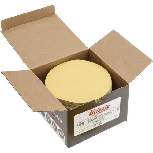 100 pk. 400-C Grit H/&L Grizzly H6699-5 A//O Sanding Disc