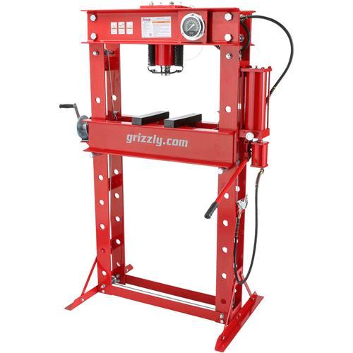 50-Ton Air/Hydraulic Shop Press