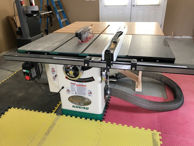 10' 3HP 220V Cabinet Table Saw with Riving Knife