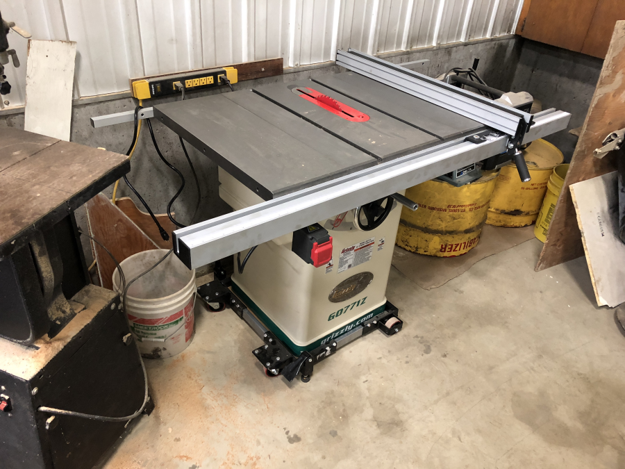 10' 2 HP 120V Hybrid Table Saw with T-Shaped Fence
