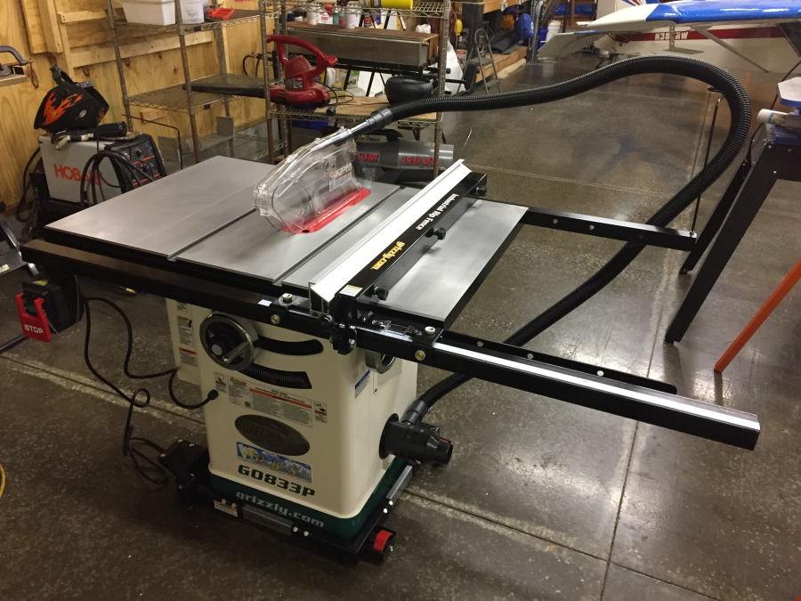 10' 2 HP 230V Hybrid Table Saw with Riving Knife, Polar Bear Series