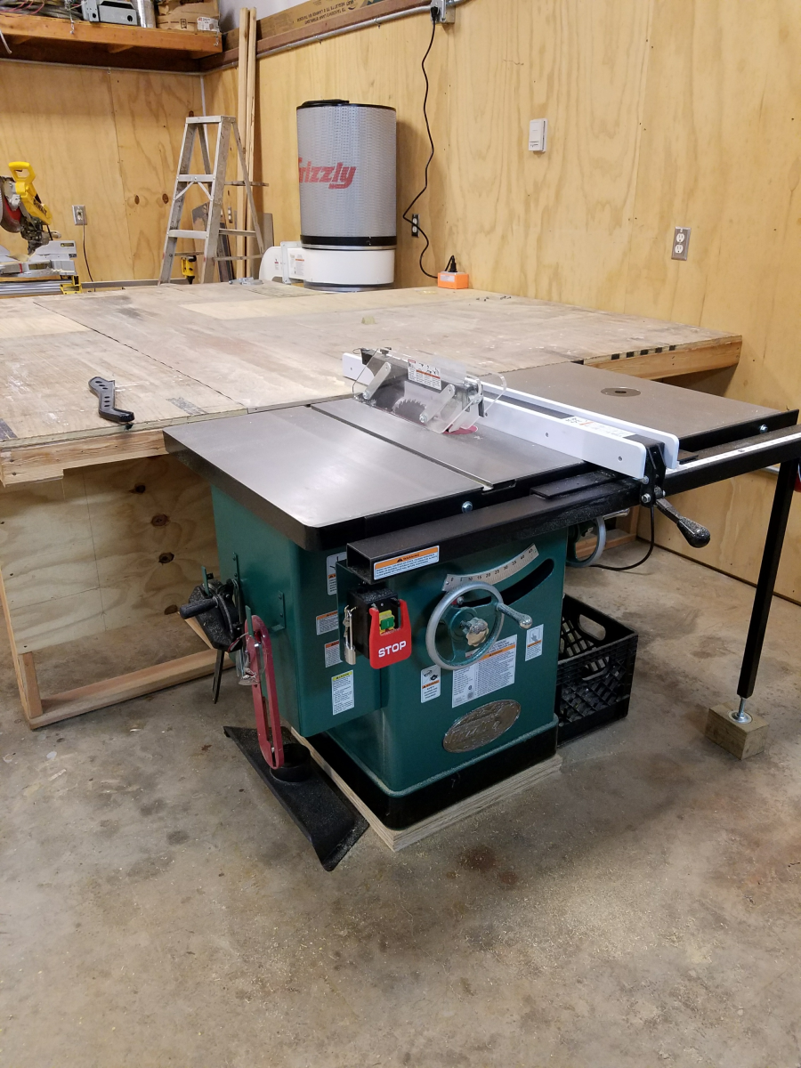10 5 Hp 240v Cabinet Left Tilting Table Saw Grizzly Industrial Wiring For 220v With The 12 And Quality Craftsmanship Of This I Dont Think Ill Be Replacing It In My Lifetime Overall Is An Excellent