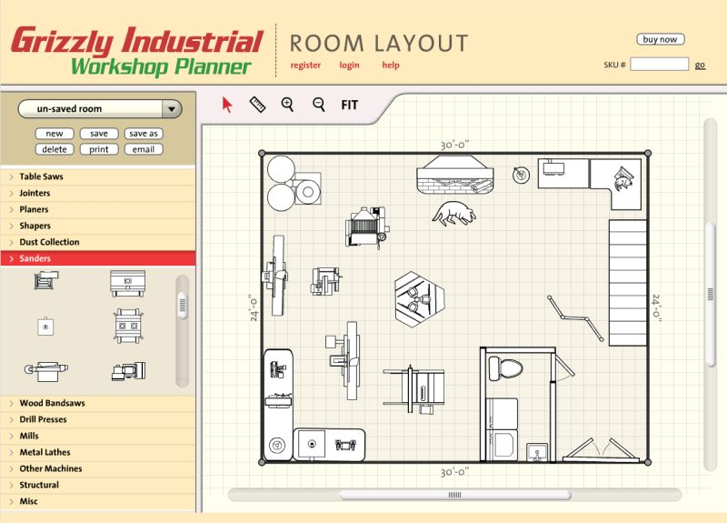 Shop tools and machinery at Easy room planner tool